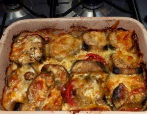 veggie bake finished