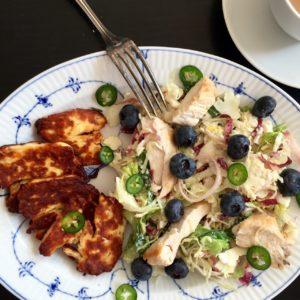 chicken blueberries chili