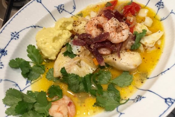 Turmeric Citrus Cod Shrimps